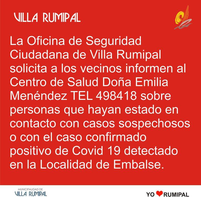 municipalidad villa rumipal covid embalse