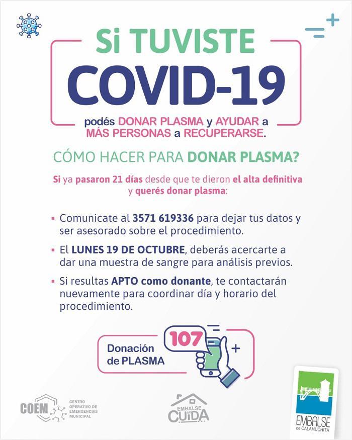 Campaña de donación de plasma